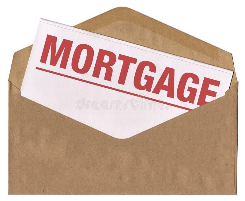 Umschlag - Hypothekenbegriffszeichen lizenzfreie stockbilder