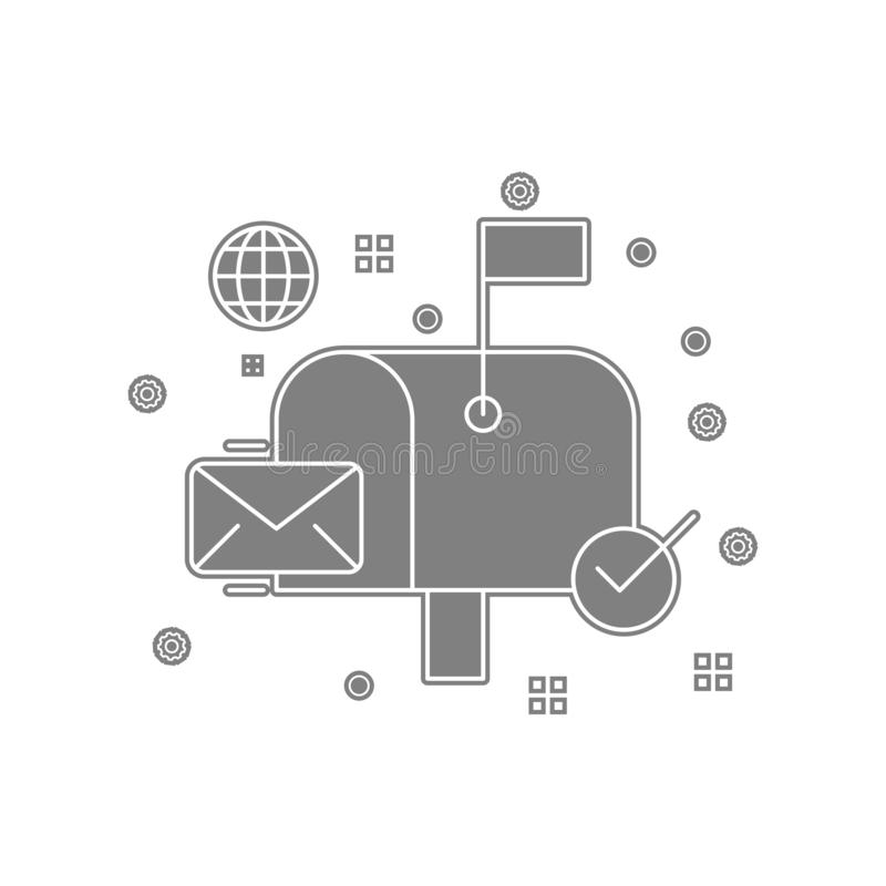 Umschlag, inbox, Buchstabe, Postenikone Element von popicon für bewegliches Konzept und Netz Appsikone Glyph, flache Ikone für We vektor abbildung