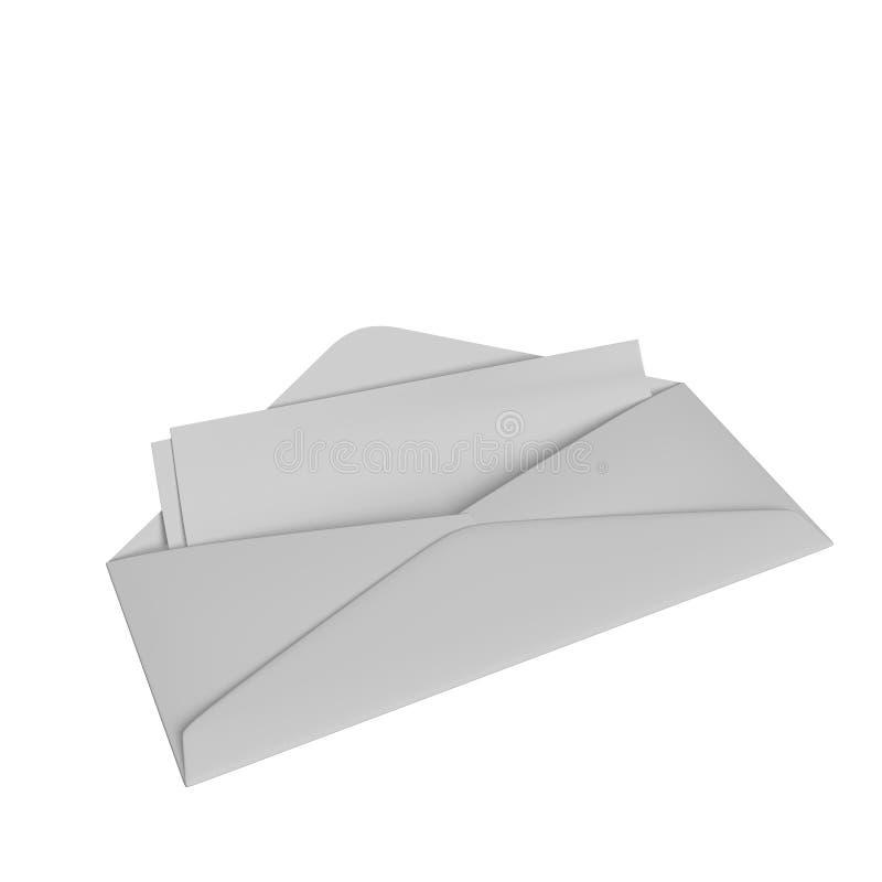 Umschlag mit Checks lizenzfreie abbildung