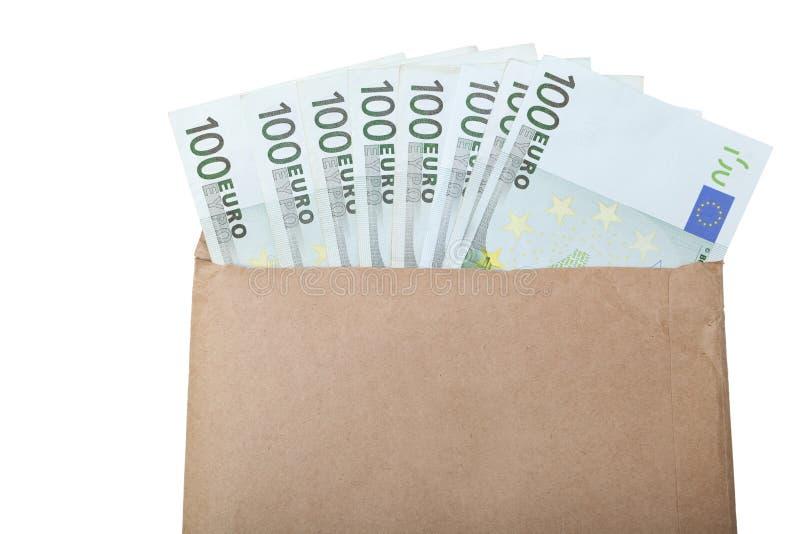 Umschlag mit Euroanmerkungen lizenzfreie stockbilder
