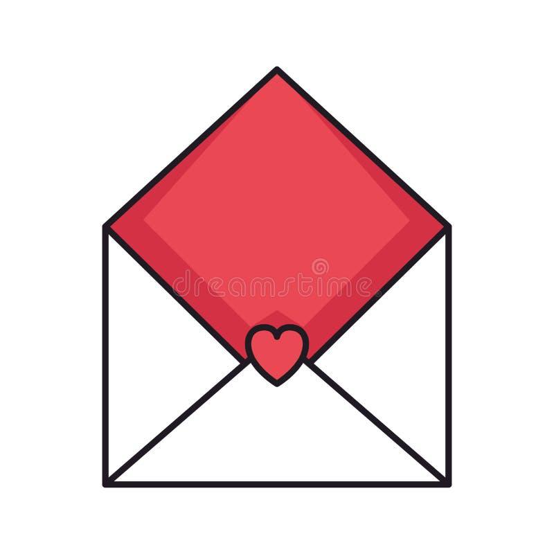 Umschlag mit Herzikone lizenzfreie abbildung