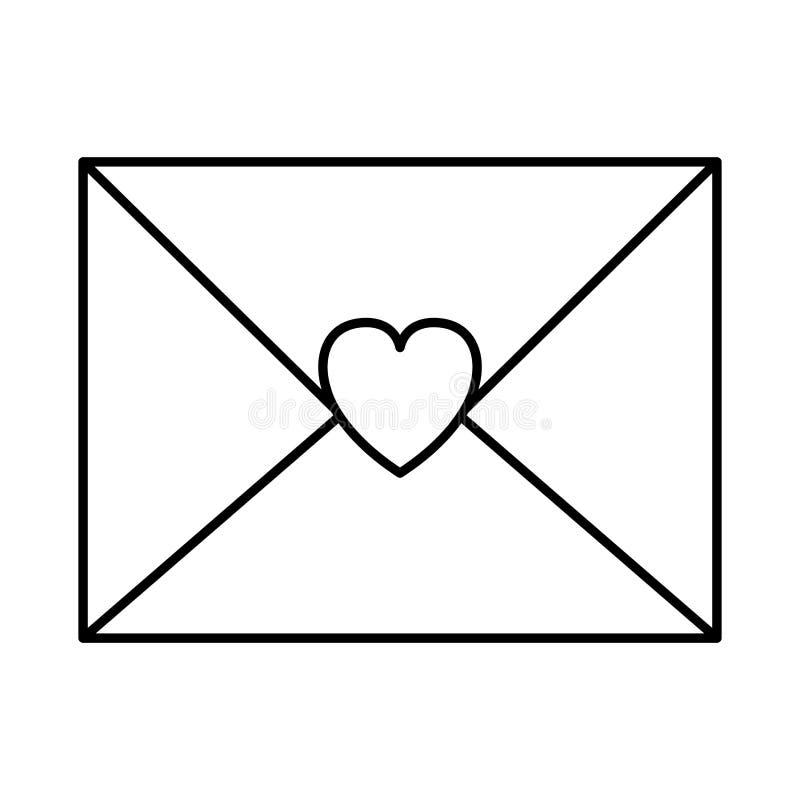 Umschlag mit Herzikone stock abbildung