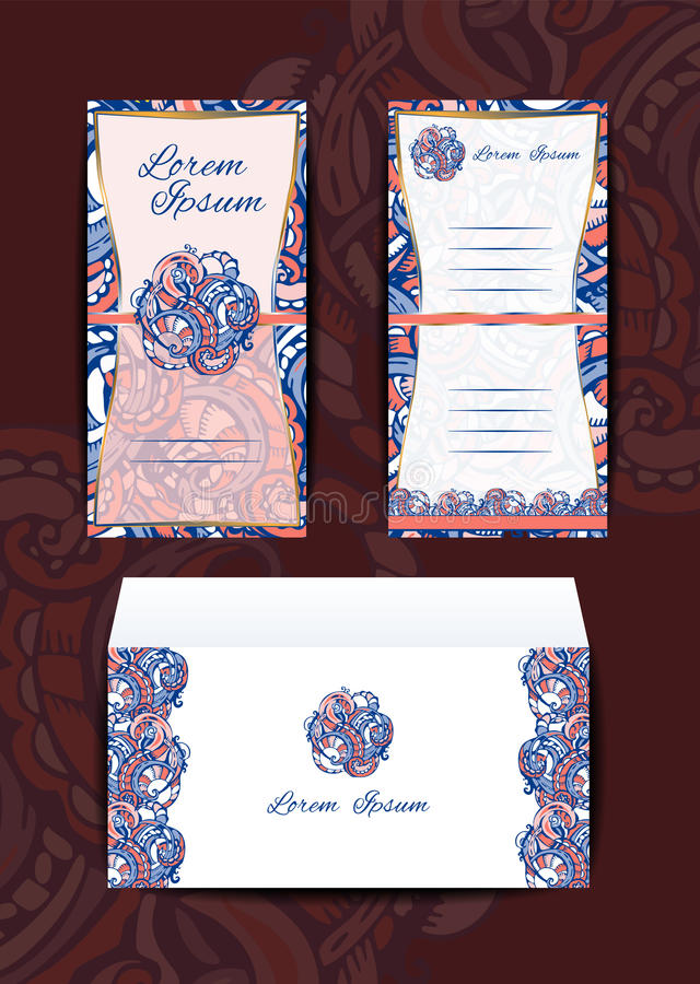 Umschlag und Einladung stock abbildung