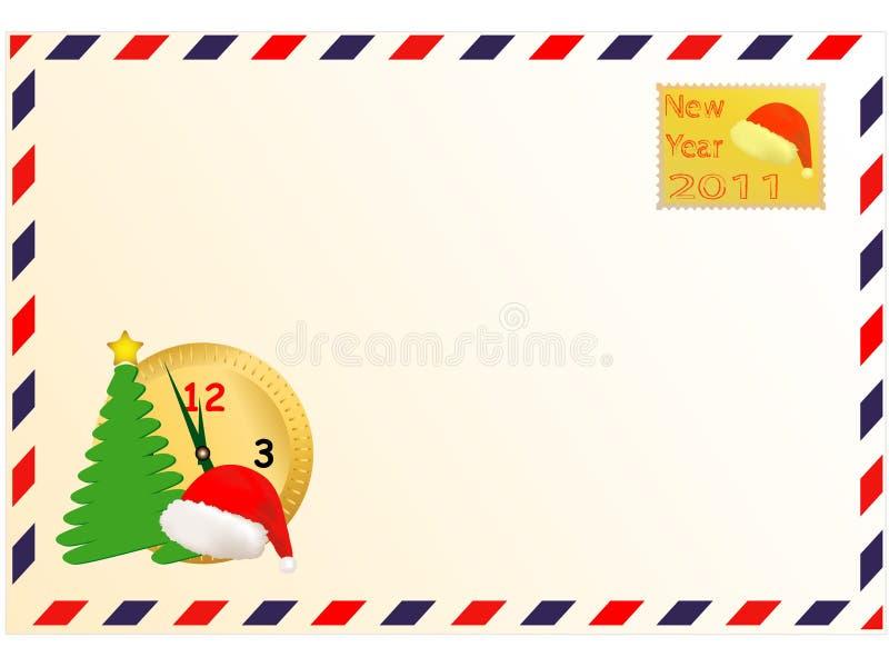 Umschlag und neues Jahr vektor abbildung