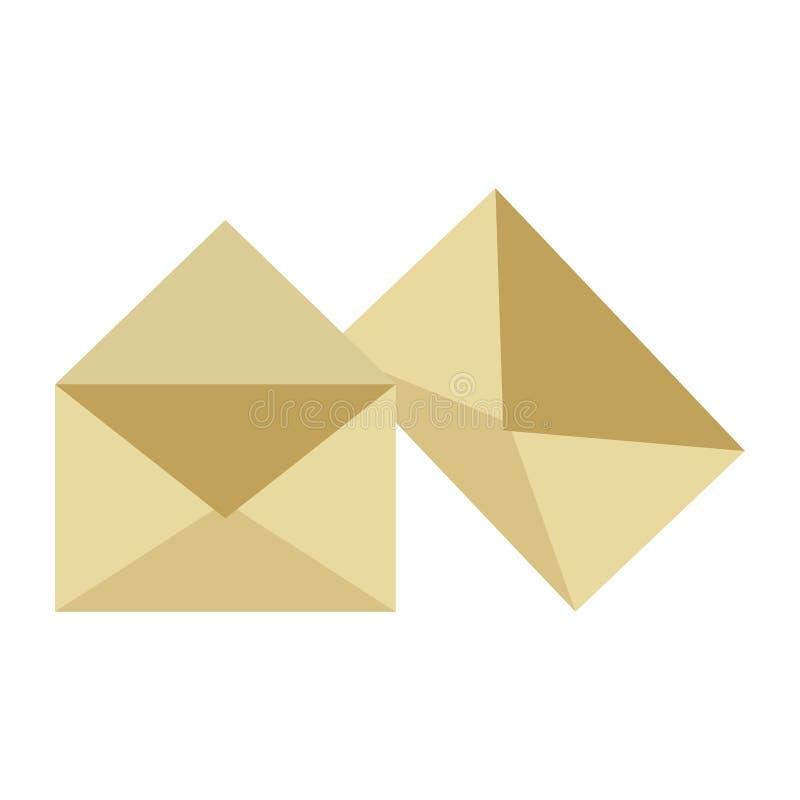 Umschlag und Post lizenzfreie abbildung