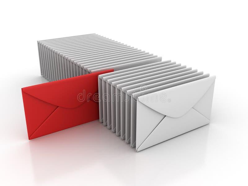 Umschlag-Wahl lizenzfreie abbildung