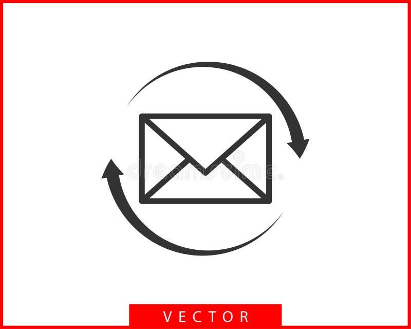 Umschlagikonenbuchstabe Schlagen Sie Ikonenvektorschablone ein Postsymbolelement Verschickender Aufkleber für Netz oder Druckentw vektor abbildung