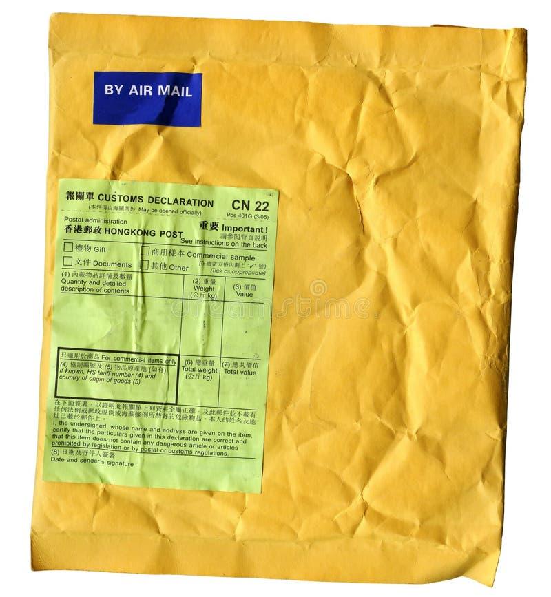 Umschlagpapphintergrund mit Postsymbolen lizenzfreie stockbilder