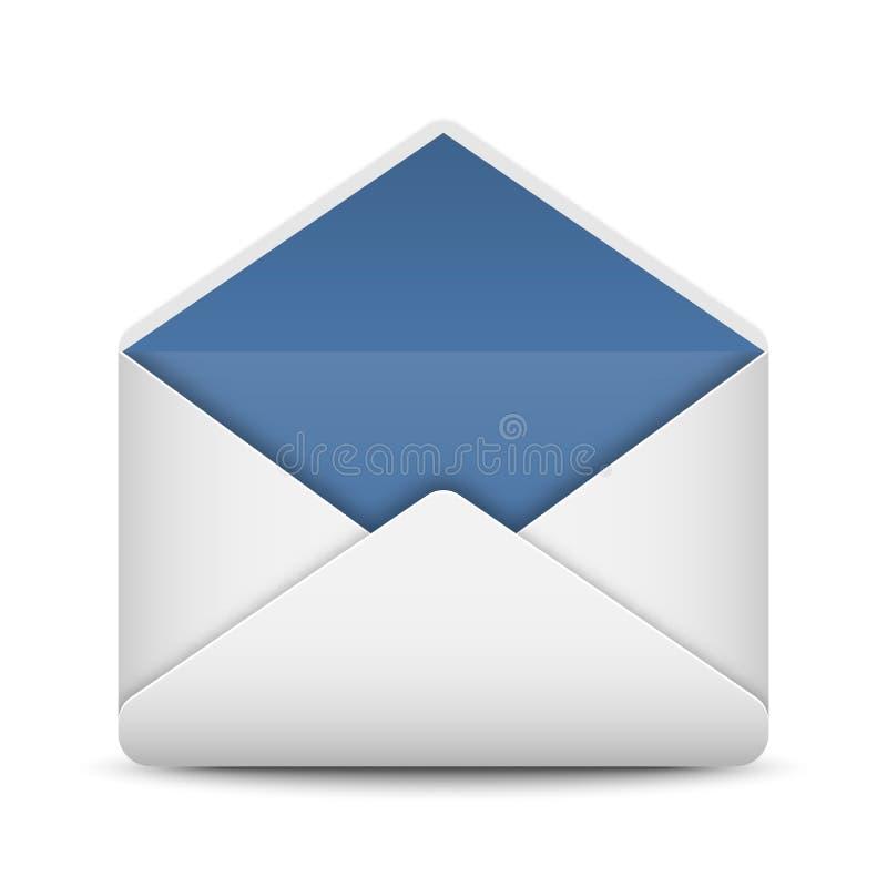 Umschlagpostikone auf weißem Hintergrund vektor abbildung