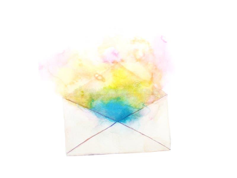 Umschlagzusammenfassung lokalisiert auf weißem Hintergrund Hand gezeichnet stock abbildung