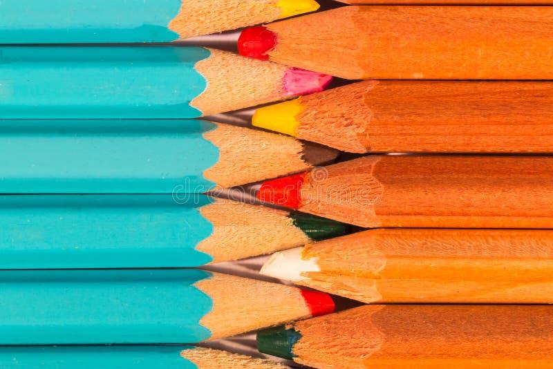 Umundurowany skład Ustaleni Drewniani ołówki obrazy royalty free