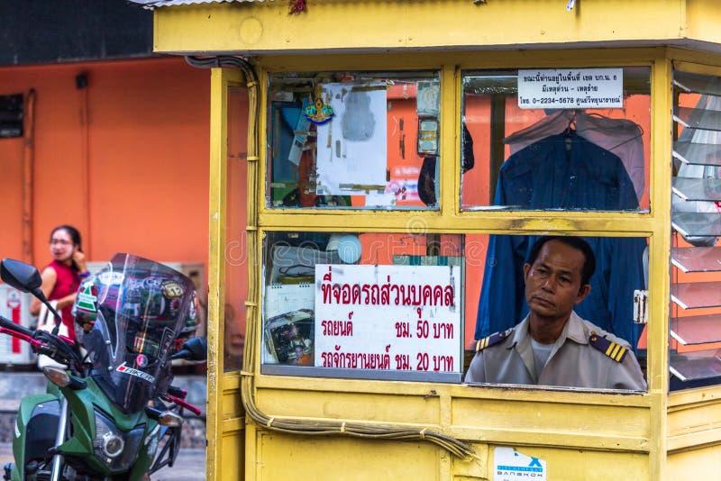 Umundurowany strażowy Bangkok Tajlandia zdjęcie stock