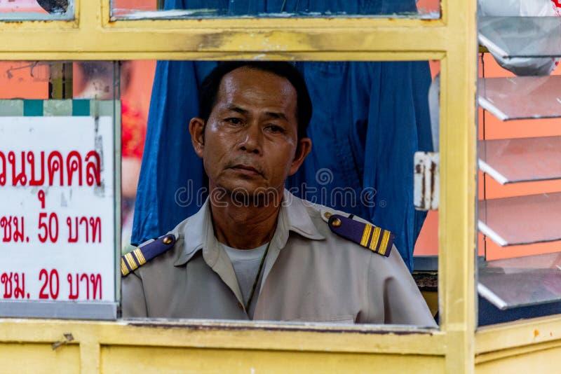 Umundurowany strażowy Bangkok Tajlandia zdjęcie royalty free