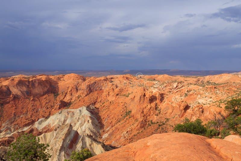 Umwälzungs-Haube an Nationalpark Canyonlands lizenzfreie stockfotos