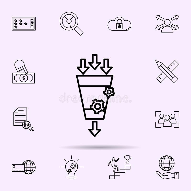 Umwandlungsmarketing-Ikone Universalsatz der Netzmischung f?r Websiteentwurf und Entwicklung, Appentwicklung stock abbildung