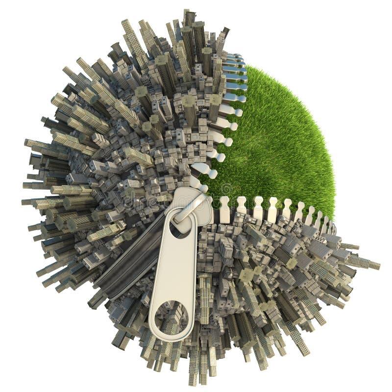 Umweltänderungskonzept lizenzfreie abbildung