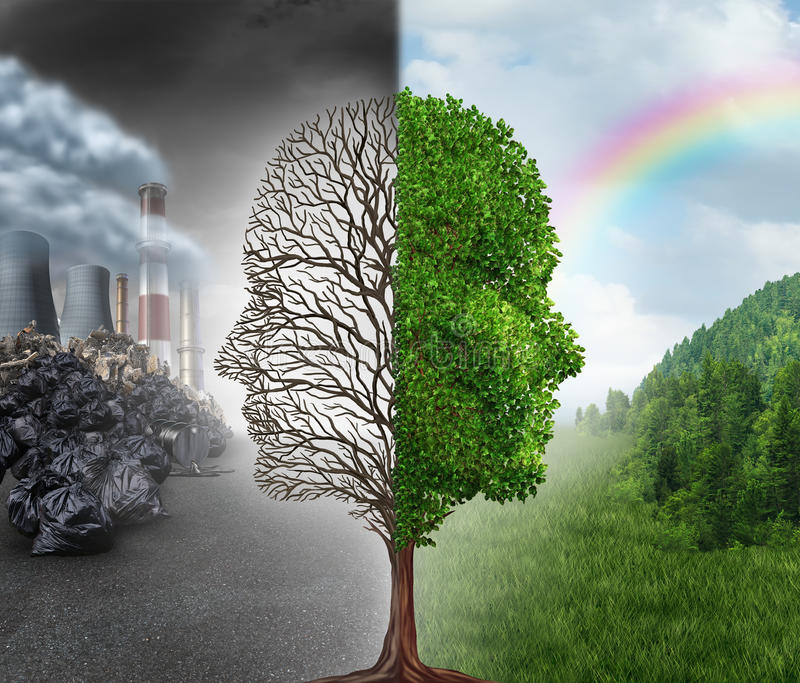 Umwelt-Änderung stock abbildung