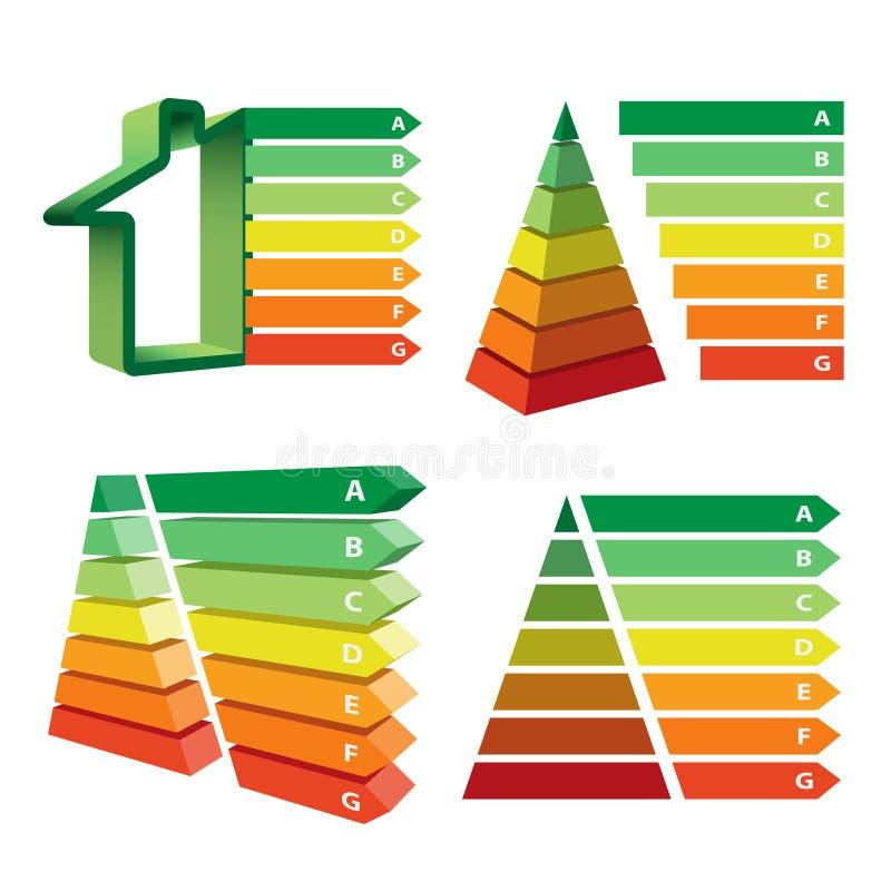 Umwelt und energiesparendes Ereignis Konzeptökologie lizenzfreie abbildung