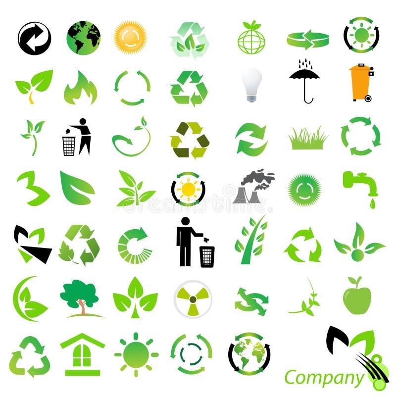 Umweltaufbereitenikonen lizenzfreie abbildung