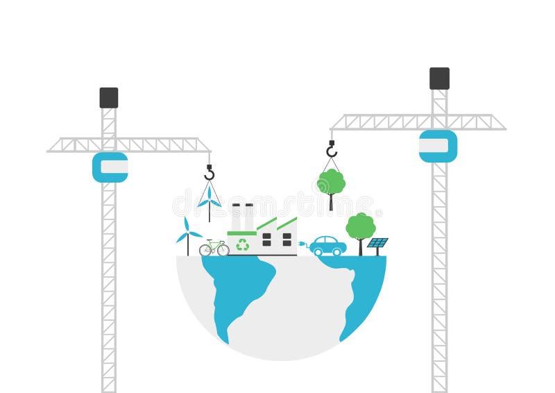 Umweltbau lizenzfreie abbildung