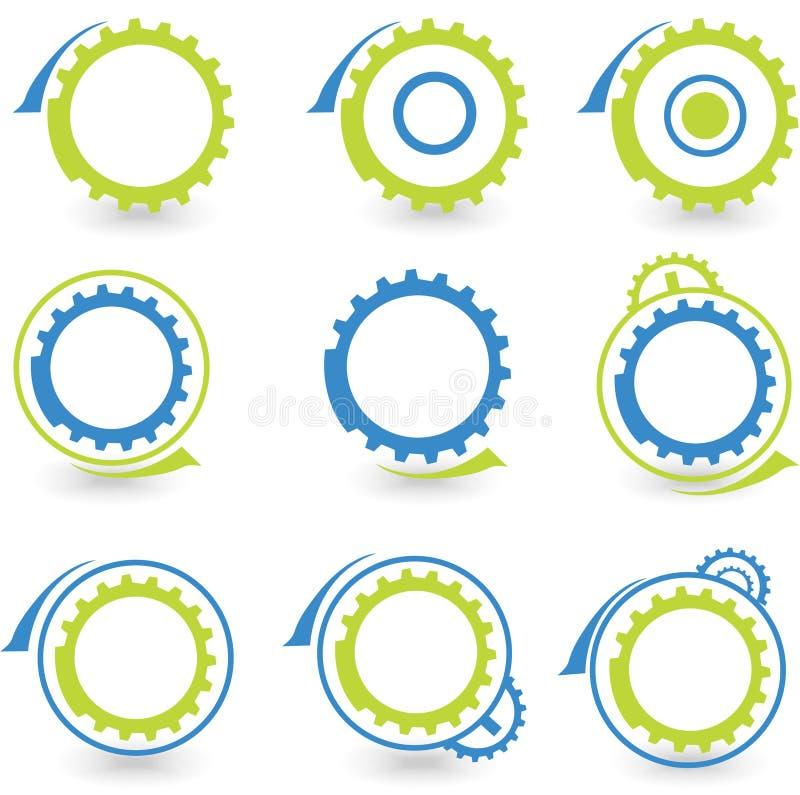 Umweltelementvektor der grafischen Auslegung des ganges vektor abbildung
