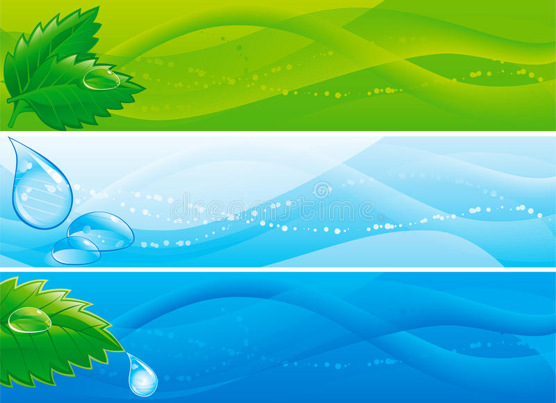 Umweltfahnen lizenzfreie abbildung
