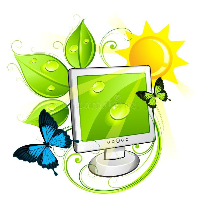 Umweltfreundlicher Computer lizenzfreie abbildung
