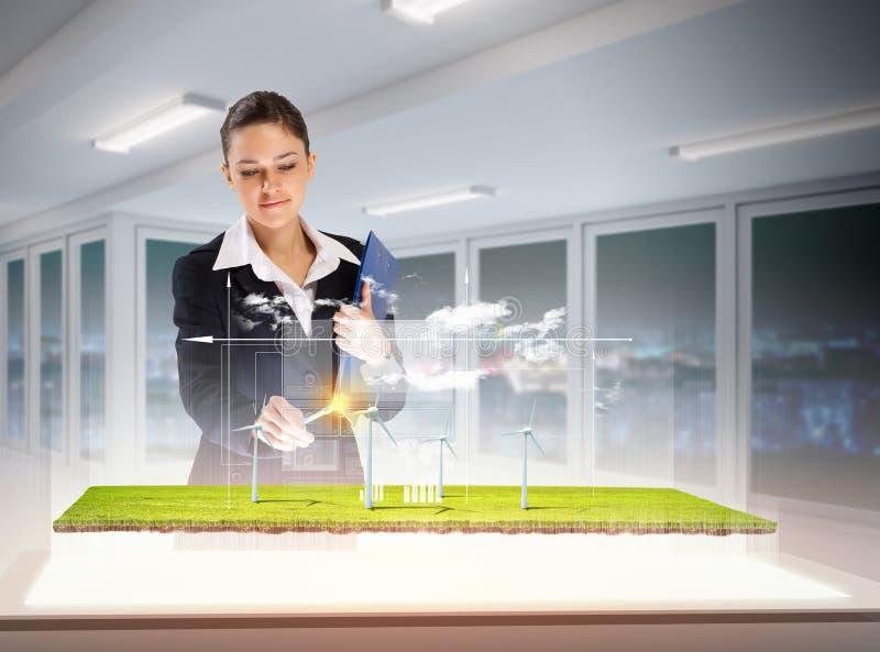 Umweltprobleme und High-Teche Innovationen stockfotografie