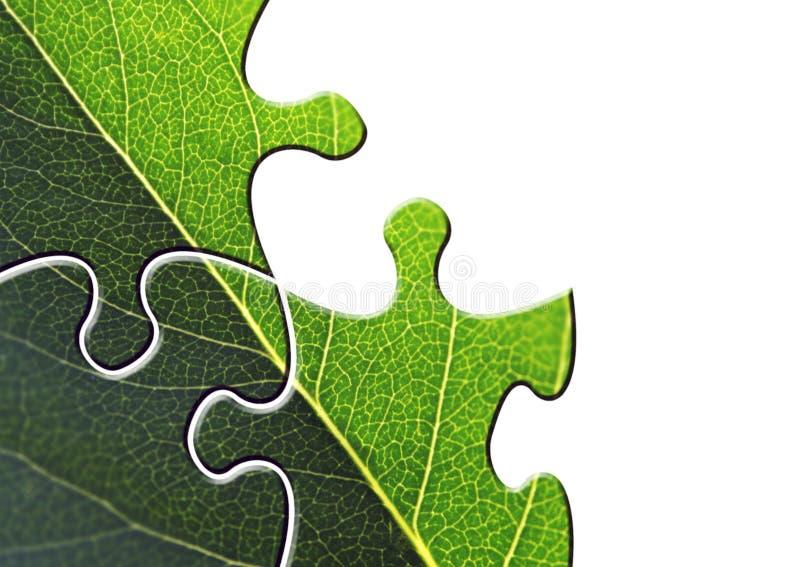 Umweltpuzzlespiel stockfoto
