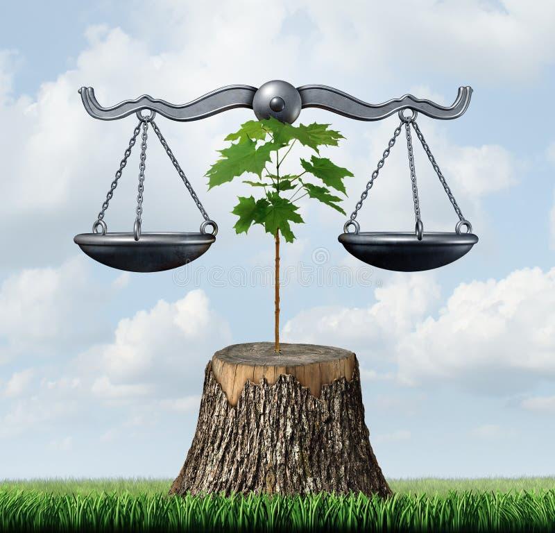Umweltrecht-und Erhaltungs-Gerechtigkeit vektor abbildung