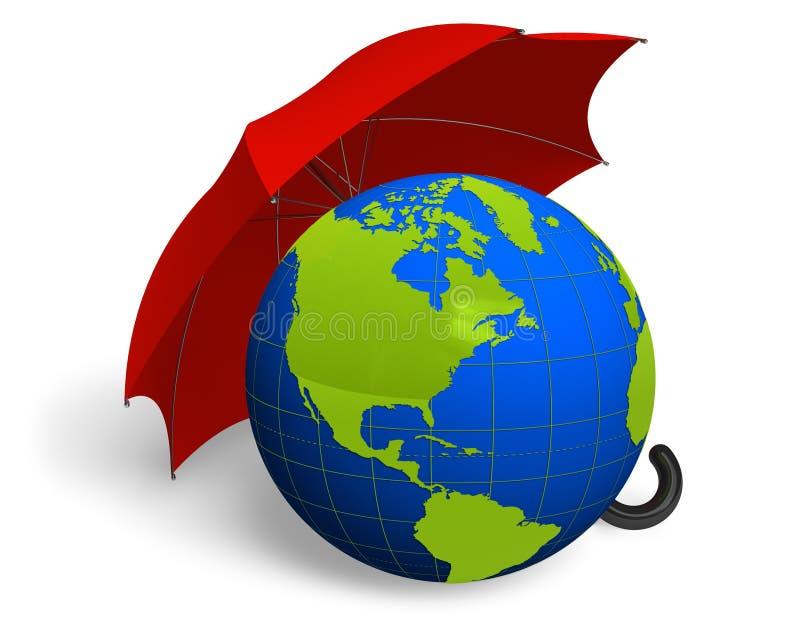 Umweltschutzkonzept lizenzfreie abbildung