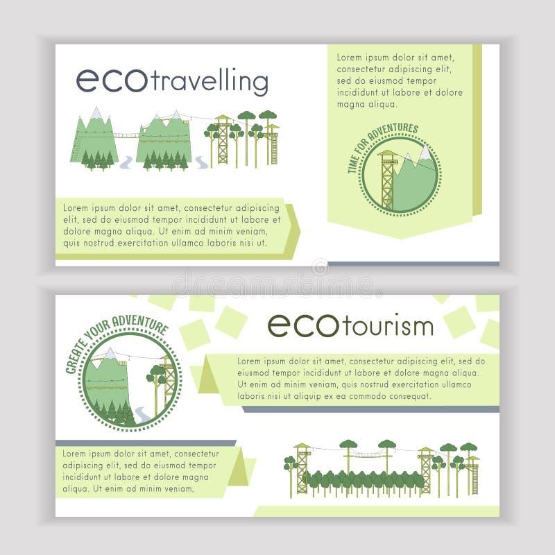 Umwelttourismusschablone lizenzfreie abbildung