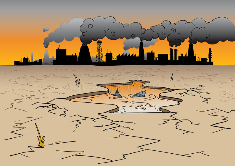Umweltverunreinigung vektor abbildung