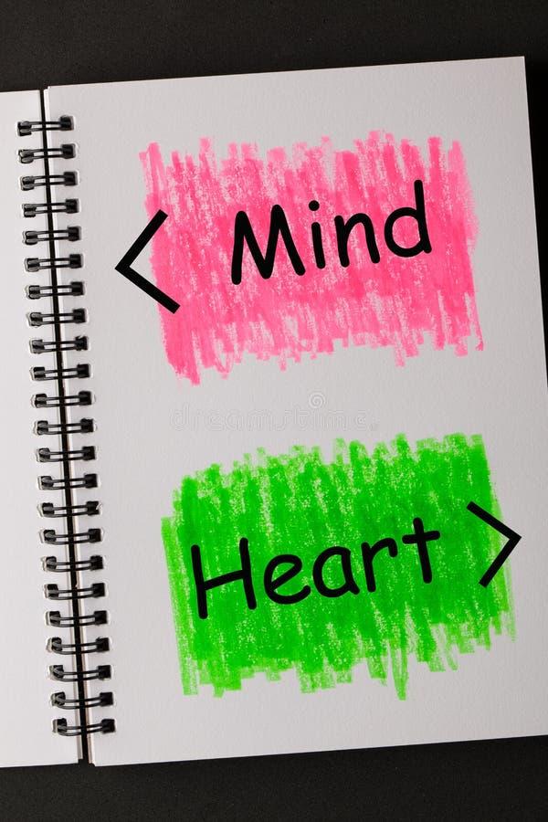 Umysłu serce Łączy obraz royalty free
