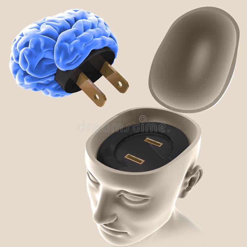 umysł. ilustracja wektor
