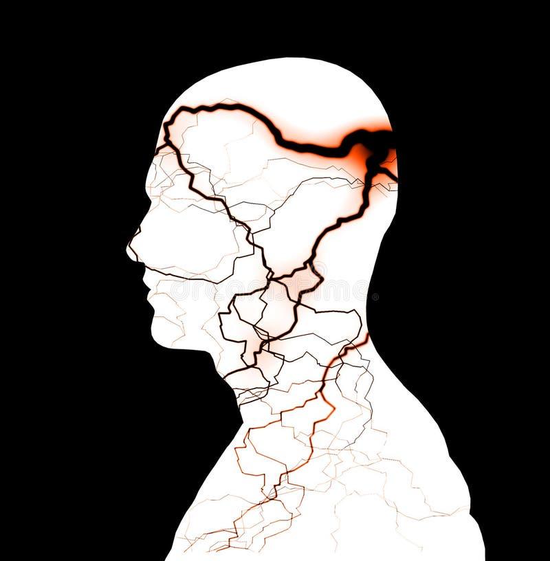 Umysł Burza ilustracja wektor