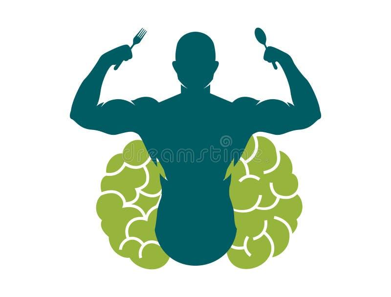 Umysł i ciało sprawności fizycznej jedzenie zdjęcie royalty free