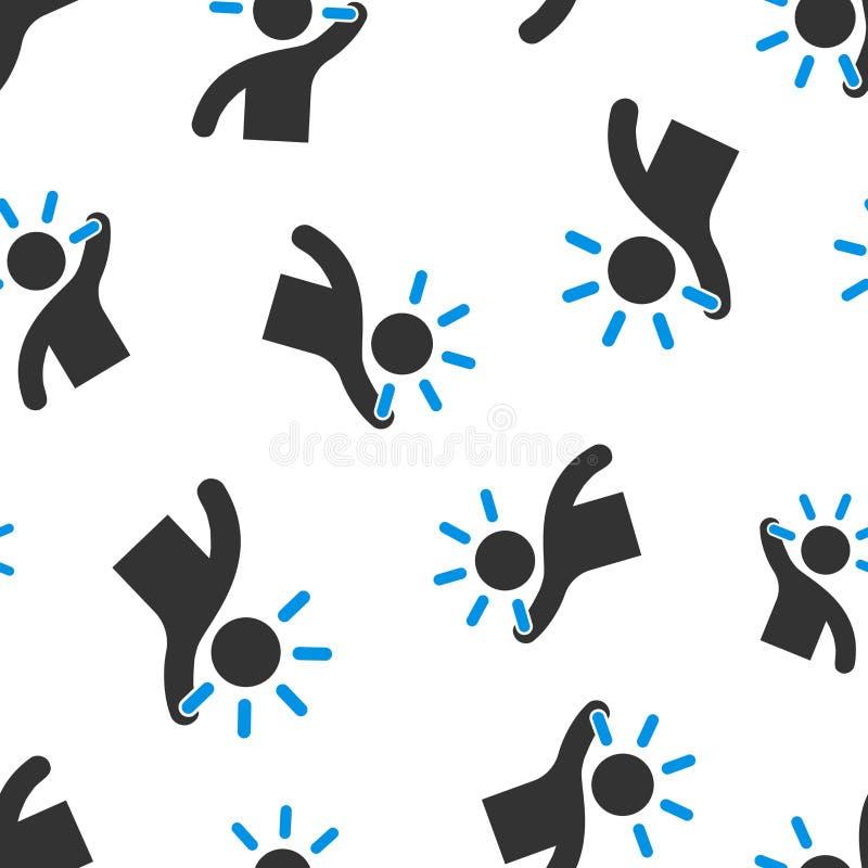 Umysł ikony bezszwowego deseniowego tła ludzie Ludzka frustracja wektoru ilustracja Umysłu symbolu myślący wzór ilustracji