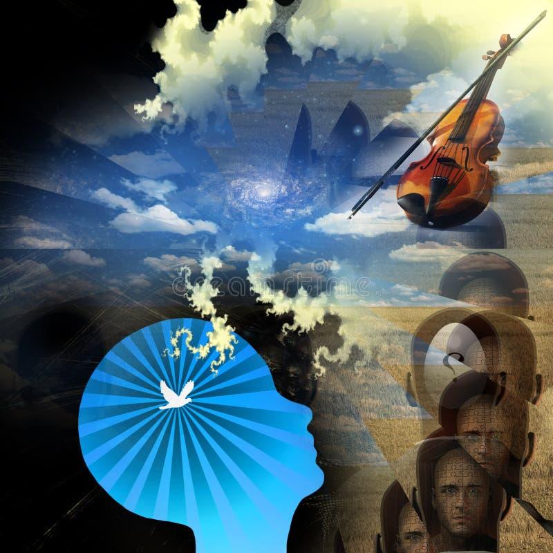 umysł muzyka ilustracja wektor