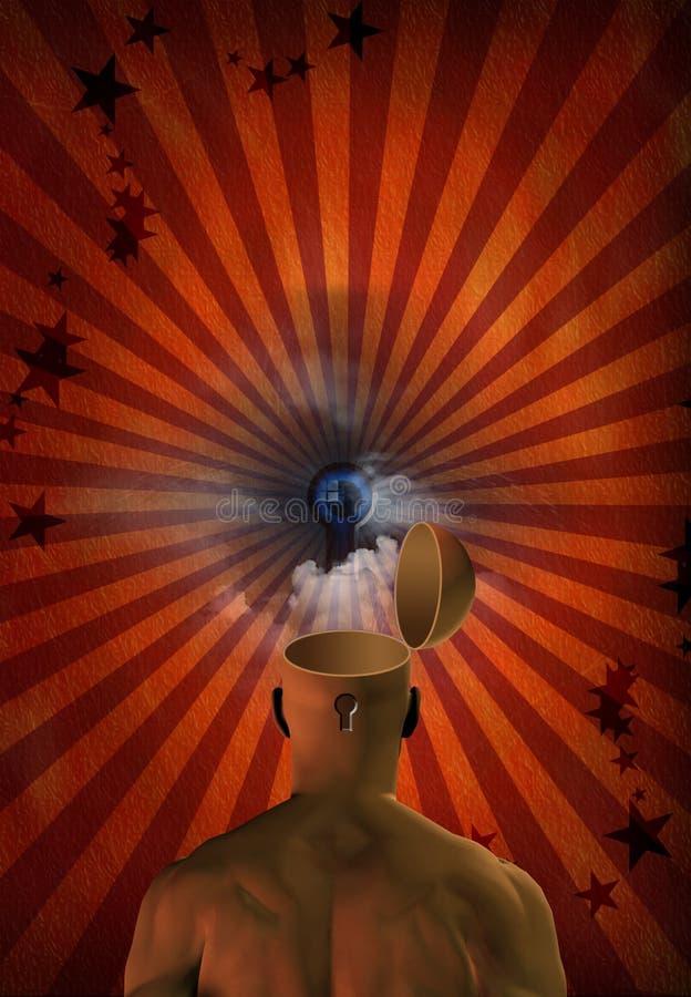 umysł otwarty ducha royalty ilustracja