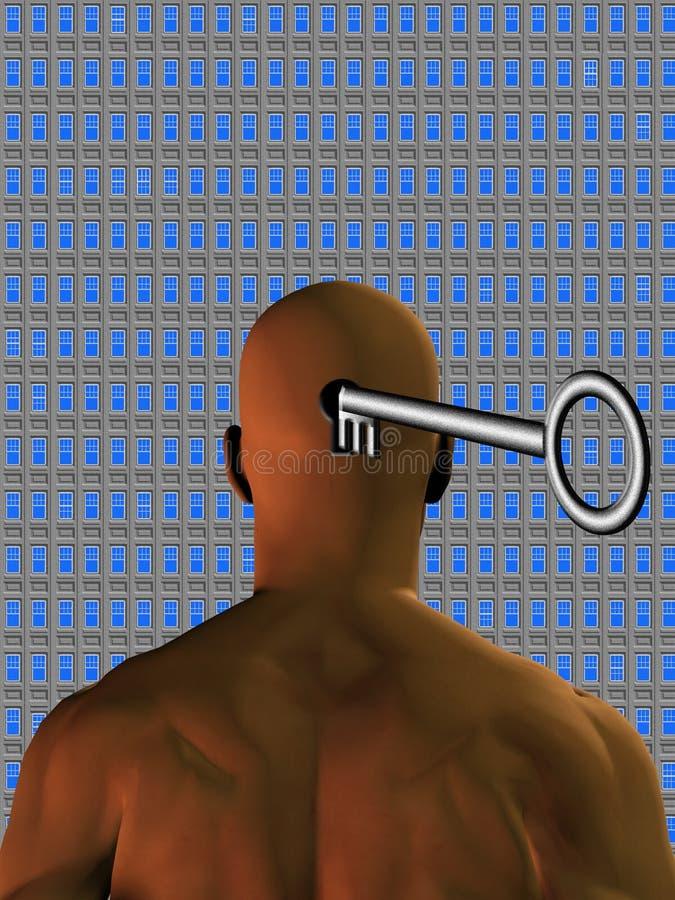 umysł potencjalnego okno ilustracji