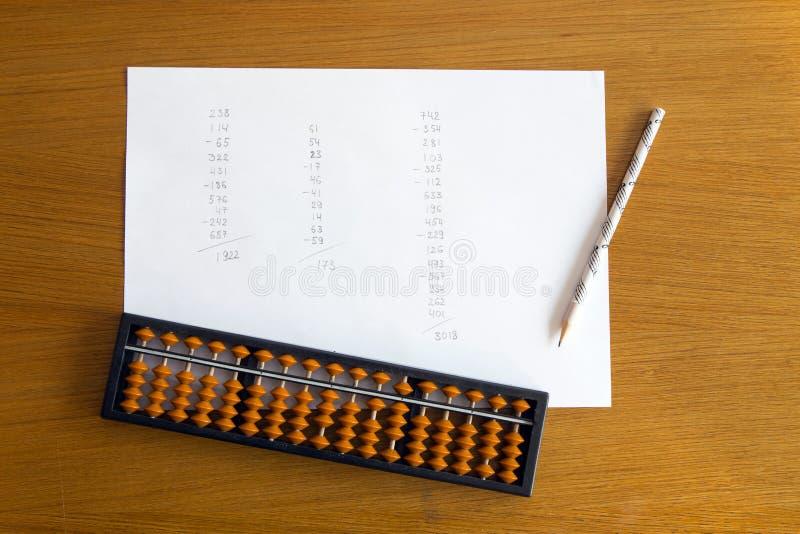 Umysłowa arytmetyki edukacja obraz stock