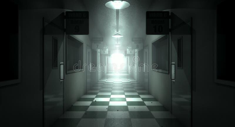 Umysłowy azyl Nawiedzający obrazy stock