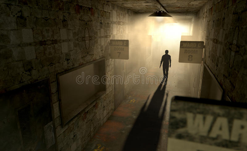 Umysłowy azyl Z Widmową postacią zdjęcie stock
