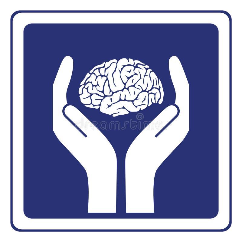 umysłowy zdrowie znak ilustracja wektor