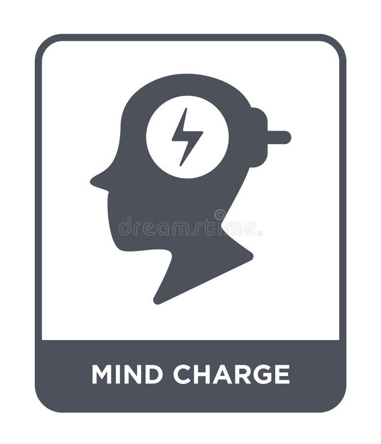umysłu ładunku ikona w modnym projekta stylu umysłu ładunku ikona odizolowywająca na białym tle umysłu ładunku wektorowa ikona pr ilustracja wektor