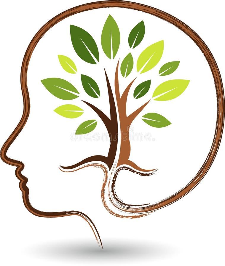 Umysłu drzewa logo ilustracji