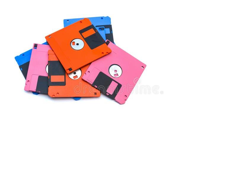 Un à disque souple également appelé un disque souple, une disquette, ou juste un disque était une forme omniprésente de stockage  photographie stock libre de droits
