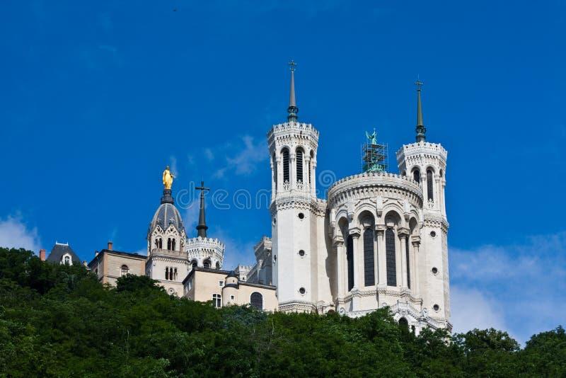 Un à pleine vue de la cathédrale de Lyon photo libre de droits