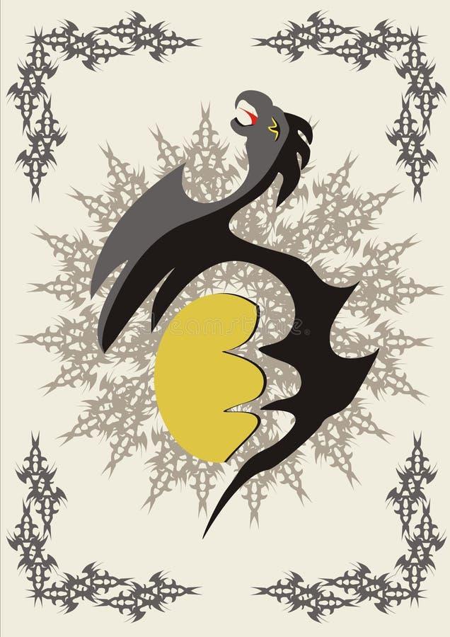 Un águila con el huevo libre illustration